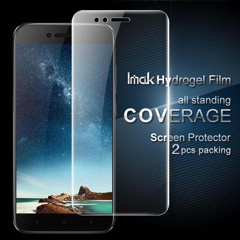 IMAK 2 Pcs Emballage Plein Écran Complet Couvrant Doux Hydrogel Protecteur Film pour Xiaomi Mi 5X/A1