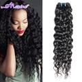 Brazilian Water Wave Virgin Hair 1pc Wet And Wavy Brazilian Human Hair 100g Natural Black Cheap Price Hair 1 Bundle Double Weft
