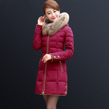 Winter Down Jacket Hooded Big Fur Collar Women parkas 2018 New Female Jacket Large size Coat Winter Ladies Warm Outerwear XY724