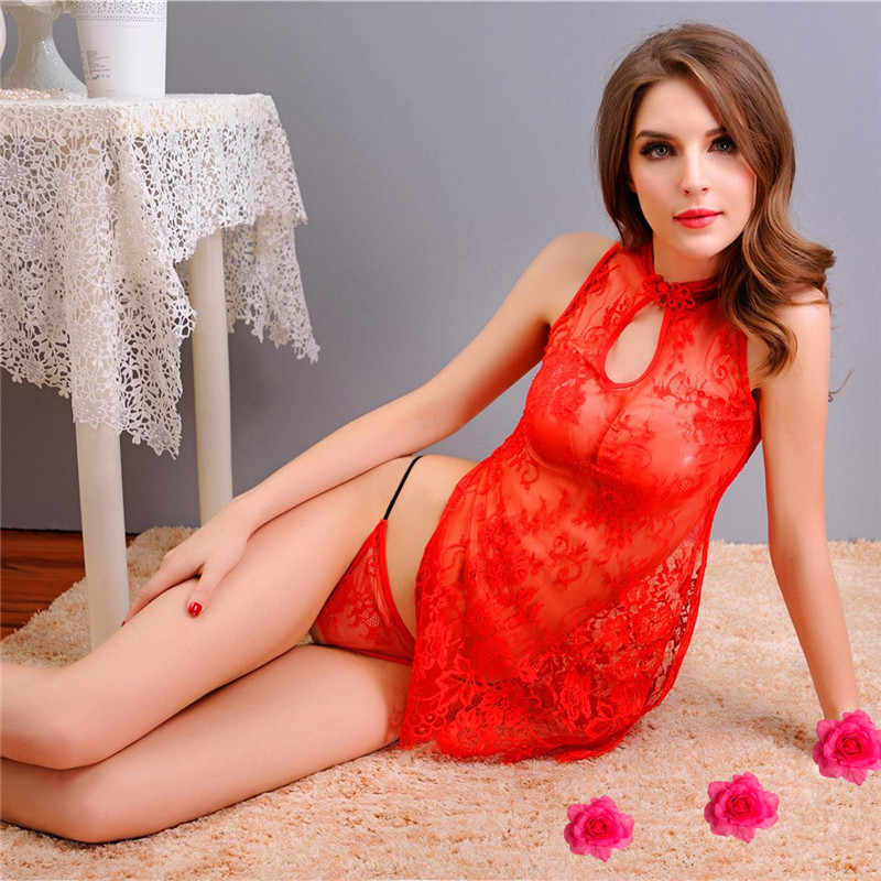 d396e26eba8 ... Sex Products Hot Sale Sexy Lingerie Dress Lace Transparent Exotic  Cheongsam Sleepwear Women Costumes Chinese Perspective