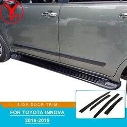 YCSUNZ czarna strona panel drzwiowy dla Toyota innova kijang 2016 2017 2018 2019 akcesoria ABS listwy do stylizacji samochodu okładziny nadwozia