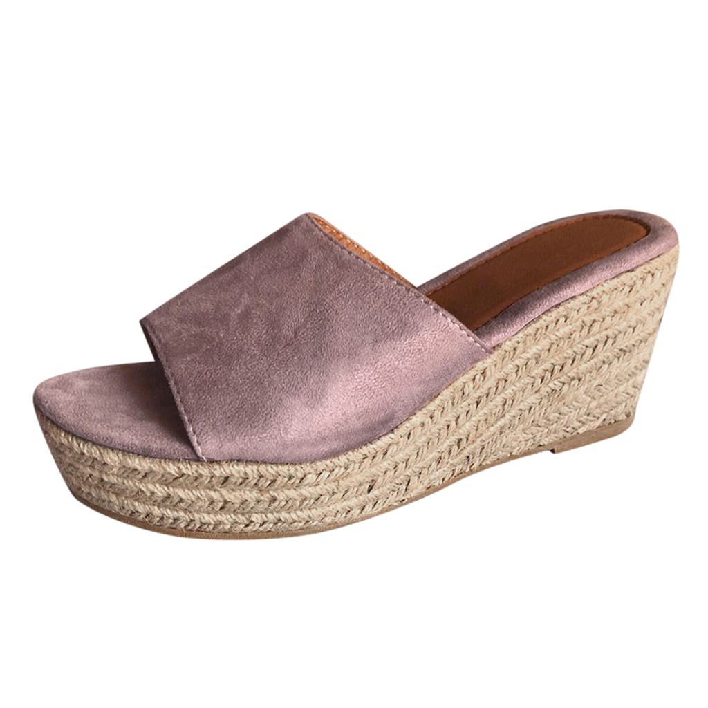 Jaycosin shoes Women High Heel Slippers  Ladies Fashion Wedges Casual Slip On Peep Toe Roman Slipper Shoes SandalsJaycosin shoes Women High Heel Slippers  Ladies Fashion Wedges Casual Slip On Peep Toe Roman Slipper Shoes Sandals