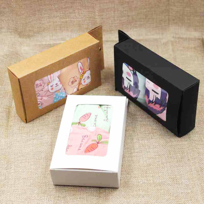 ZerongE jewelry multi color adults/kids briefs cardboard hanger display window box candy/gifs display window package box
