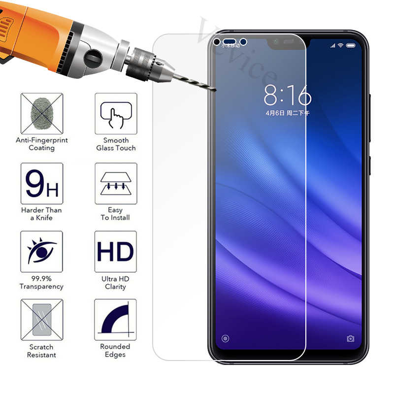 Clear Tempered Glass For Redmi 5 Plus 6 Pro Note 6 5 Pro 4 4X For Xiaomi Mi 8 A2 Lite A1 5X 6X Protective Screen Protector Film