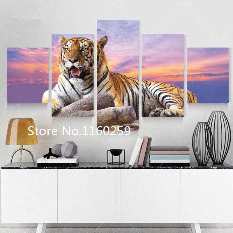 diy 5D Diamond Painting Diamond embroidery Resin Square Craft Needlework Diamond mosaic DIY Patchwork tiger triptych home decor