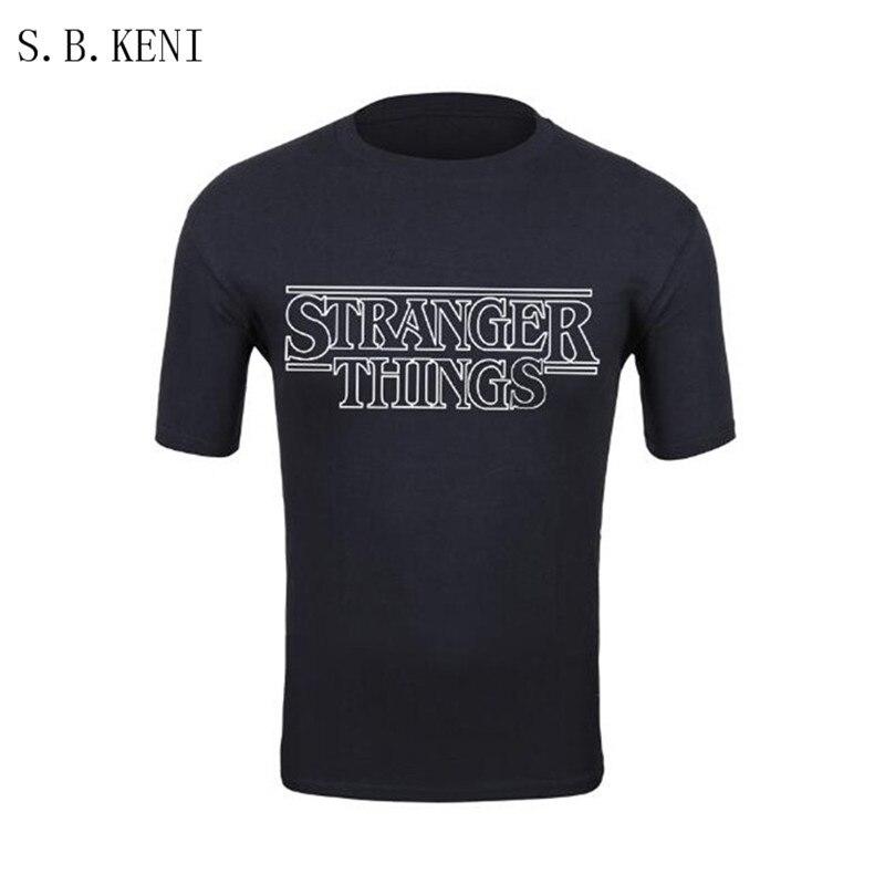 2018 Nouvelle Émission de TÉLÉVISION des Choses Plus Étranges Hommes trasher T Shirt 100% Coton À Manches Courtes Hommes De Mode T-Shirt Tops T-shirts vêtements