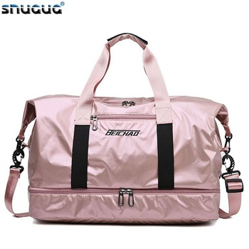 New Waterproof Travel Sports Bag Ladies Outdoor Sport Gym Bags Women Oxford Fitness Storage Tote For Shoe Men Training Bag 2019 1