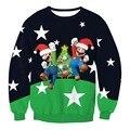 Смешно Печати Звезды Марио Санта-Клауса Толстовка 3D Рождество Кофты Мужчины Женщины Повседневная Мода Толстовки С Длинным Рукавом Пуловеры