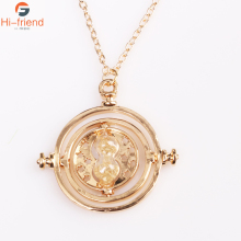 Wholesale 20pcs/Lot Hot Sell Time Turner Necklace Two Colors Silver Gold Hourglass Necklaces & Pendants