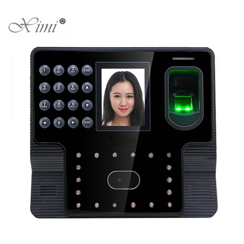 Iface102 Face And Fingerprint Time Attendance Terminal Tcp/ip Free Software Biometric Face Recognition Time Recorder Time Clock