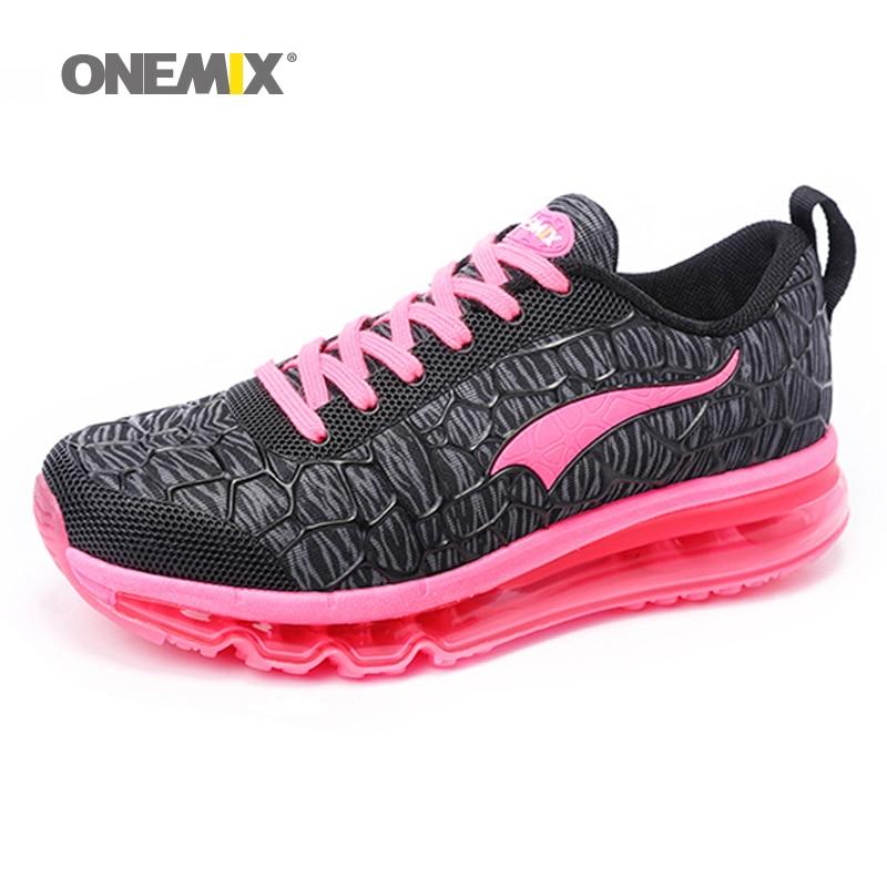 ONEMIX 2018 moterų bėgimo bateliai kvėpuojantis tinklelis atletiški batai oro pagalvėms Moteriški sportiniai bateliai lauko sportiniai bateliai paleisti patogūs