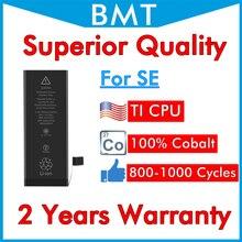 Bateria para iphone se 5se original bmt, bateria de 1642mah para ios 13 100% cobalt + tecnologia ilc, 10 peças 2019