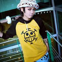 Anime One Piece Trafalgar Law Hoodie Langarm T-Shirt Sweatshirt Mit Kapuze Tops T Jacke Cosplay Kostüm Größe S M L XL XXL