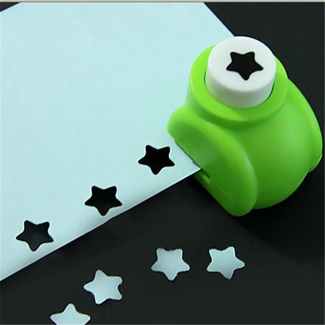 8 colores Mini Scrapbook punzones cortador para cortar a mano tarjeta artesanal estampado de Calicó flor manualidades de papel punzón perforador forma