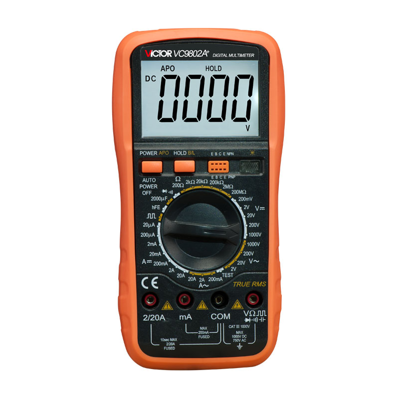 VICTOR VC9802A+ Professional Digital Multimeter Victor Multimeter,Digital Multimeter AC DC Voltage,3 1/2 Digits victor digital multimeter vc9804a  3 4