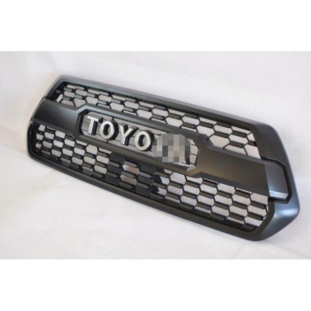 1 pc Lantsun TRD PRO Style Matte Black ABS Front Bumper Hood Grill ...