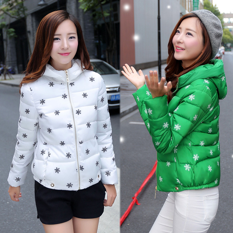 2016 Winter New Korean Slim Hooded Jacket Snow Short Mianfu Female Fashion Coat Sale Designer Womens Coats Cotton Women