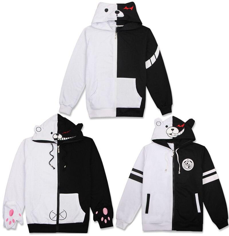 3Styles Anime Danganronpa Trigger Happy Havoc Monokuma Hoodie Cosplay Costume Hooded Jacket Daily Casual Hoody