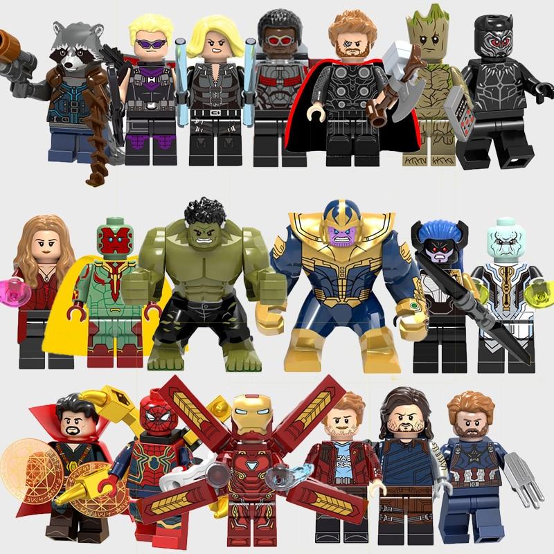 Dubbi Super Heros Dolls Legos Marvel Avengers Infinity War Vision Thanos Captain America Iron Man
