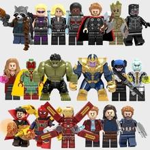 Avengers Infinity War Minifiguras Thanos, Spiderman, Ironman, Hulkbuster