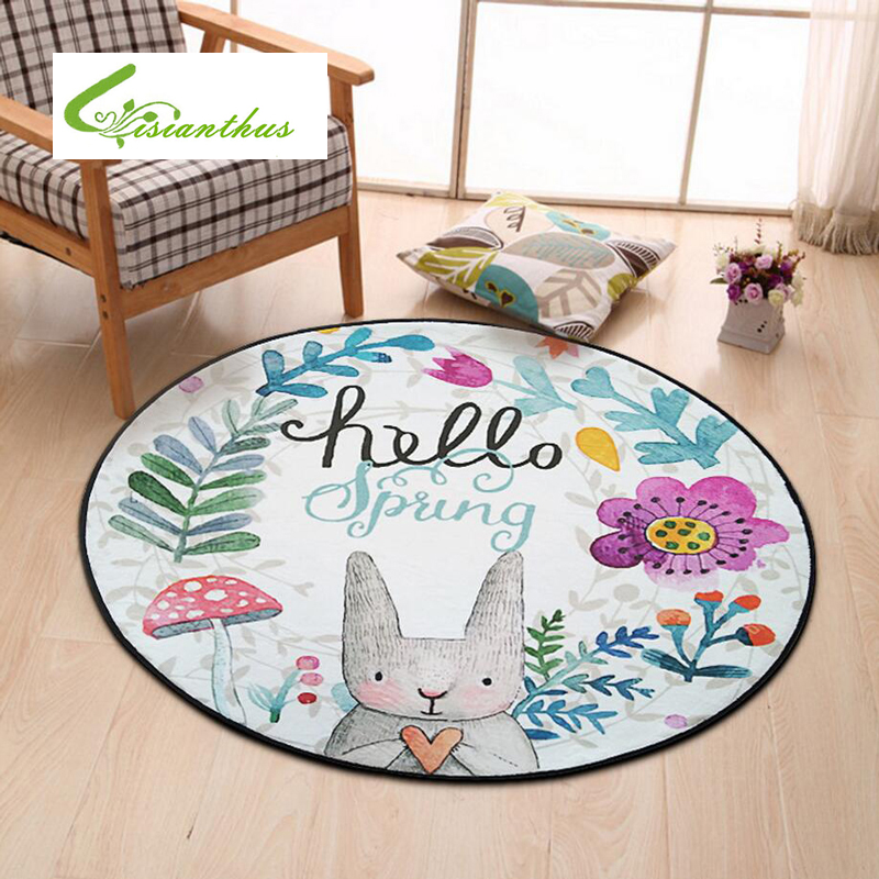 Incredible Us 11 1 49 Off Home Supplies Coral Fleece Soft Round Cartoon Rabbit Carpet Non Slip Water Drawing Floor Rug Chair Yoga Mat For Kids Bedroom In Mat Gmtry Best Dining Table And Chair Ideas Images Gmtryco