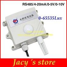 Осветительный передатчик свет Сенсор освещения Сенсор промышленный измеритель освещенности rs485 4-20MA 0-5 V 0-10В 0-65535Lux