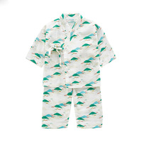 Japanese Style Printed Children'S Pajamas Cotton Boy Girls Yukata Summer Kids Kimono Costume Home Pyjamas Suits Costume Z956