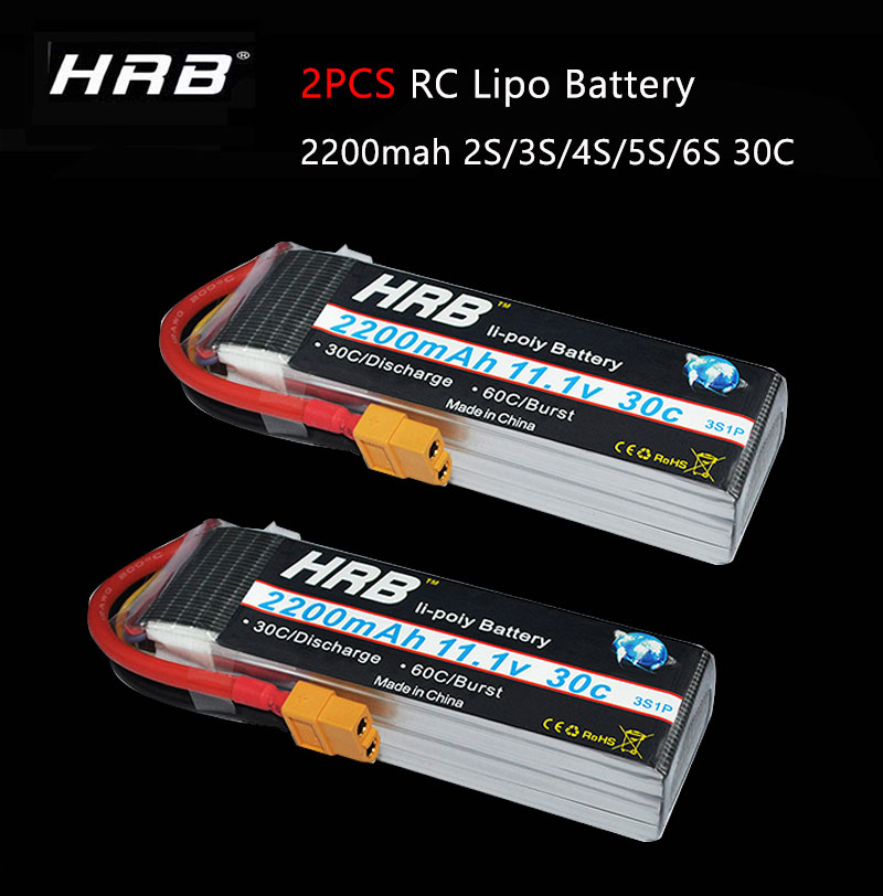 F-Cloud HRB RC Lipo Battery 3S 11.1V 2200mah 30C 60C Burst rate lipo for E-Flite RC helicopters with XT60-T XT60 connector image