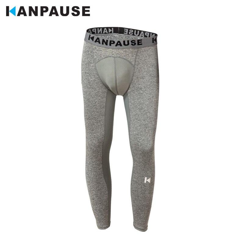 New Arrival KANPAUSE Męskie spodnie do biegania Spodnie do ćwiczeń Rajstopy kompresyjne Spodnie sportowe