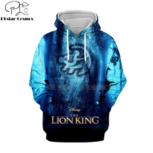 цена на PLstar Cosmos Hot sell casual 3D hoodies/sweatshirts/shirt print the Lion King Simba Men/women's slim long sleeve streetwear-4