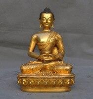 Свадебные украшения тибетская Статуэтка бронза 24 K золото позолоченная чаша буддийская медицина Шакьямуни Статуя