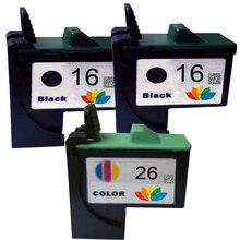 3 совместимый картридж черный color #16 #26 компл. для lexmark z612 z617 z640 z645 z601 z602 z603 принтер