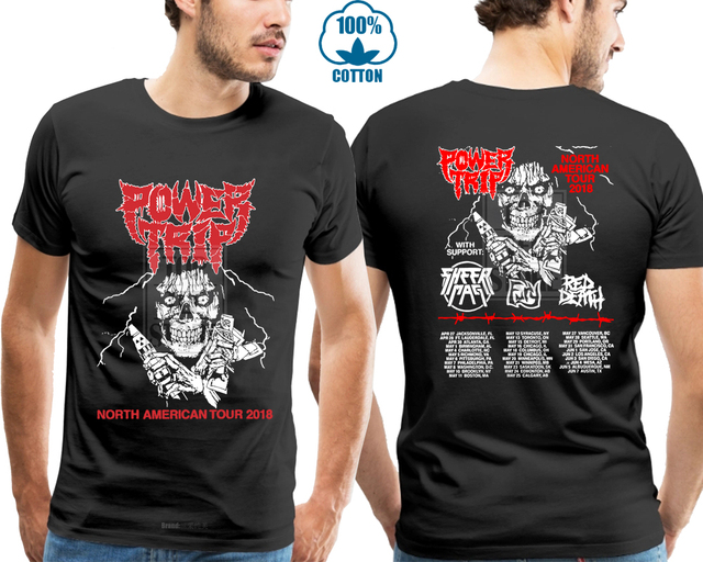 e7c71ee6316 New Power Trip North American Tour 2018 Gildan T Shirt Black S 4Xl ...