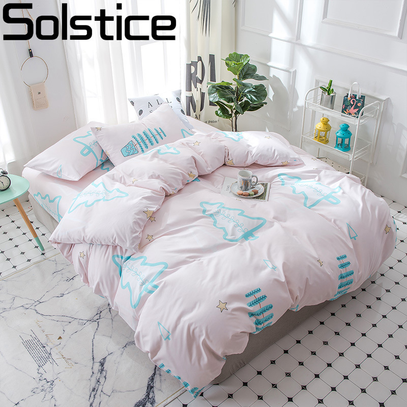 Solstice Bedding-Set Duvet-Cover Pillowslip-Case Flat-Sheet Home-Textile Queen Single-Bedclothes