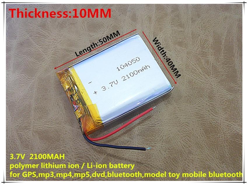 3,7V lithium polymer battery 104050 2100MAH Tablet PC navigation mobile power GIY drawing books slim mobile power polymer lithium battery 3 7v 3766125 4000mah