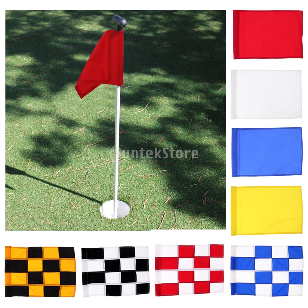 High Quality Nylon Training Golf Putting Green Flags Indoor Outdoor Backyard Garden Portable Golf Target Flags 510mm x 350mm