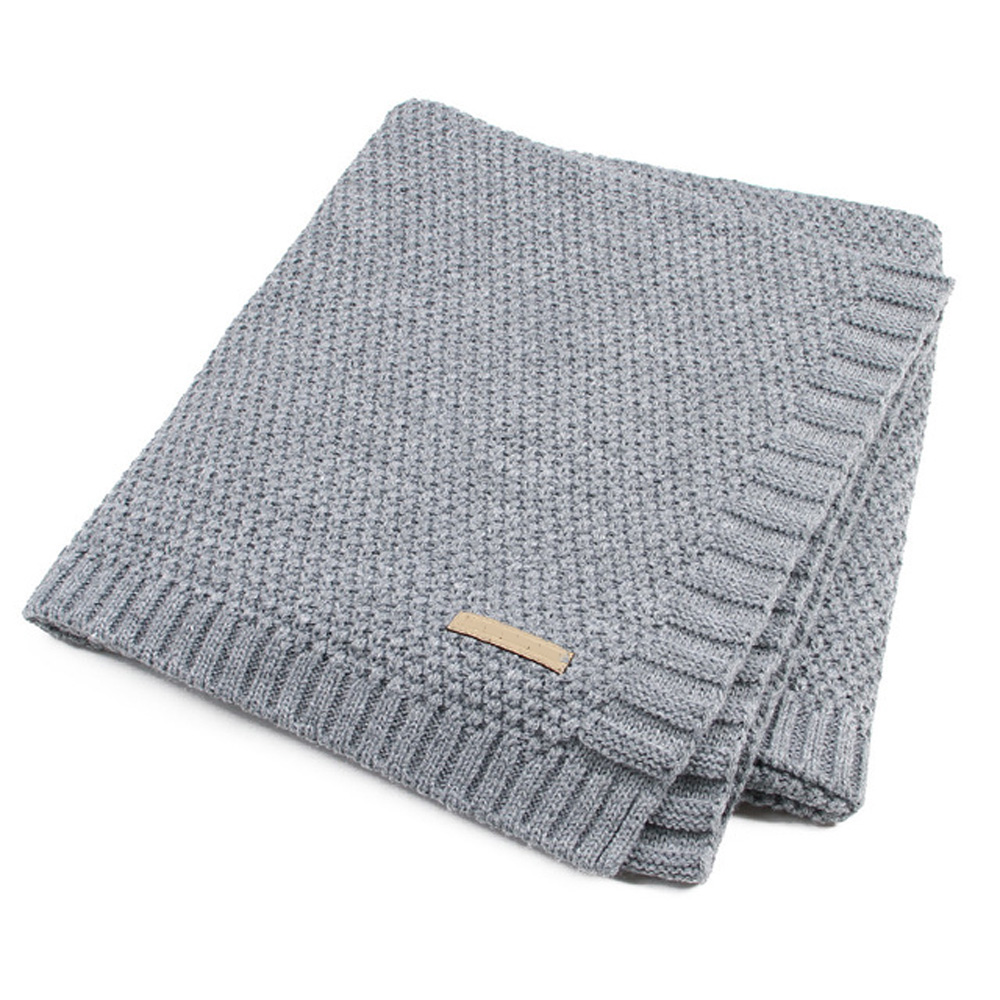 Cotton Knitted Baby Blankets Newborns Muslin Swaddle Baby Blanket Muslin Swaddle Warm Baby Swaddle Wrap Muslin Blanket 100*80 CM