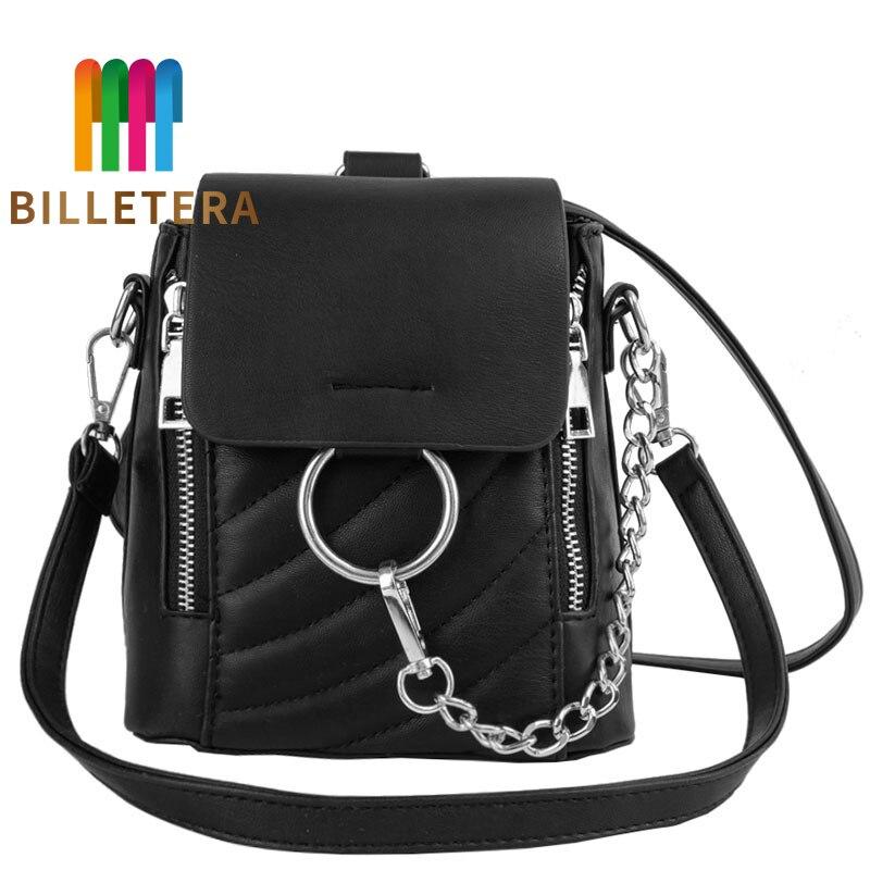 BILLETERA Mini nouvelle mode femmes sac à dos petit sac à dos chaîne sac à bandoulière