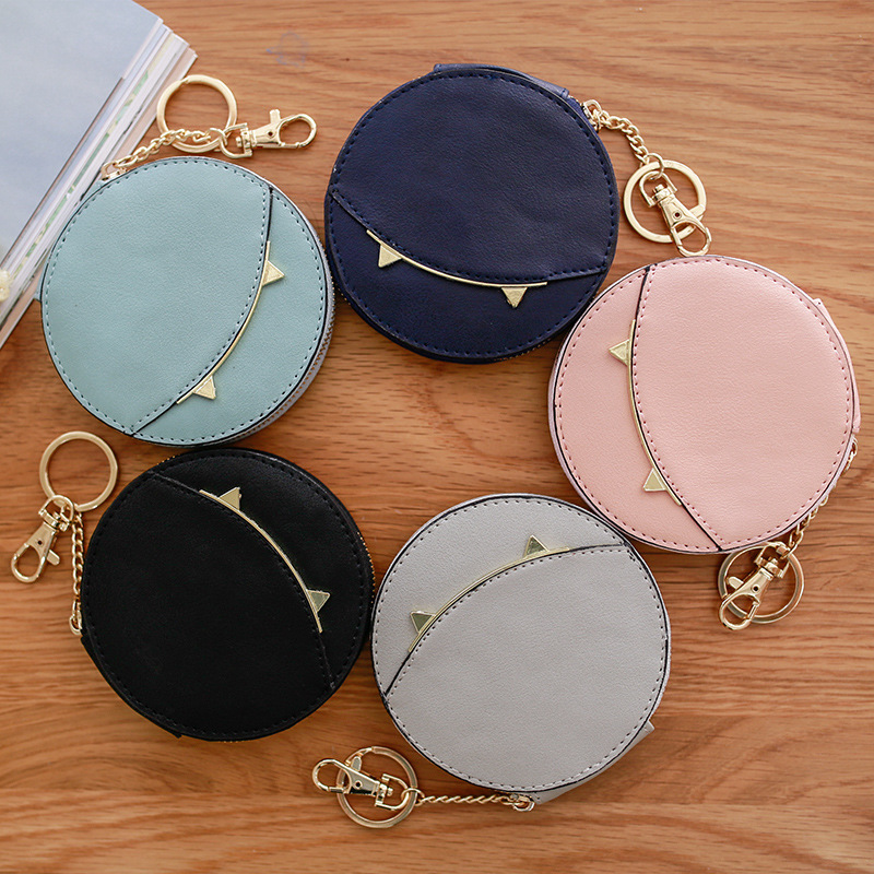 Wholesale Brand Women Coin Wallet Cute Cat Mini Purse Case Multi Function Organizer Bag Cases Small