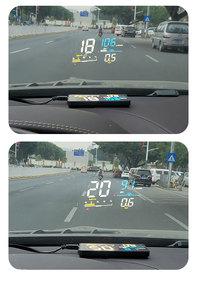 "Image 5 - GEYIREN רכב HUD D5000 OBD2 ראש למעלה תצוגה דיגיטלי מד מהירות שמשה קדמית מקרן Overspeed סל""ד מים טמפרטורת אזעקה"