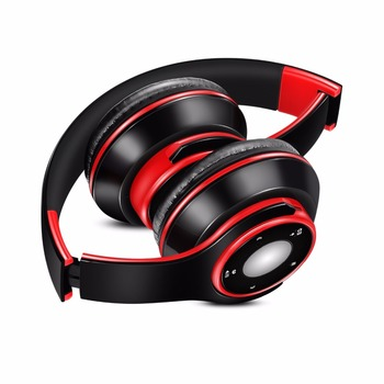 Free Shipping Colorful Stereo Audio Mp3 Bluetooth Headset Wireless Headphones Earphone Support SD Card with Mic Play 20 Hours 6