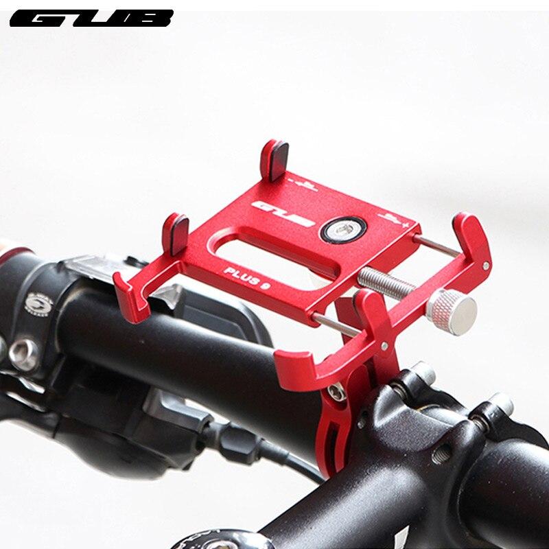GUB Plus 9 Telefon Halterung für Fahrrad Lenker Installieren 55-100 Breite Anpassen 360 Grad Rotation Legierung Halter CNC eloxiert Rack