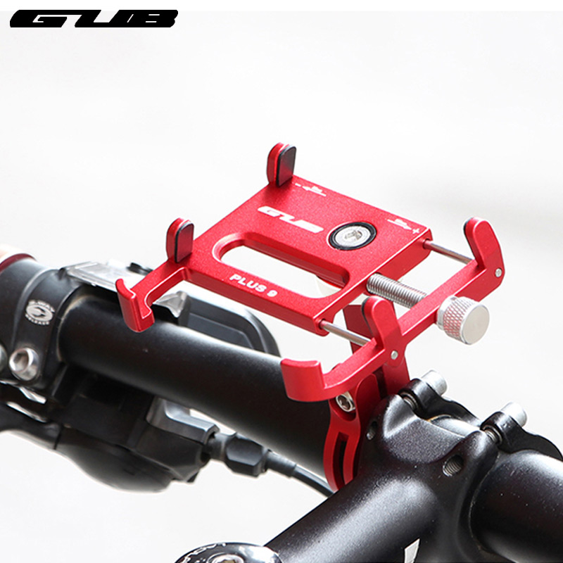 GUB Plus 9 Telefone Montagem para Bicicleta Guiador Instale 55-100 Ajustar a Largura de 360 Graus de Rotação Titular Da Liga Do CNC anodizado Rack