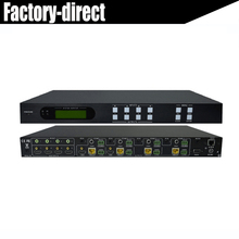 Hight quality 4K HDMI 4X4 HDBaseT Matrix Switcher 4 x HDMI Input and 4 x HDBaseT, 2 x HDMI Out+de-embedded audio IR RS232