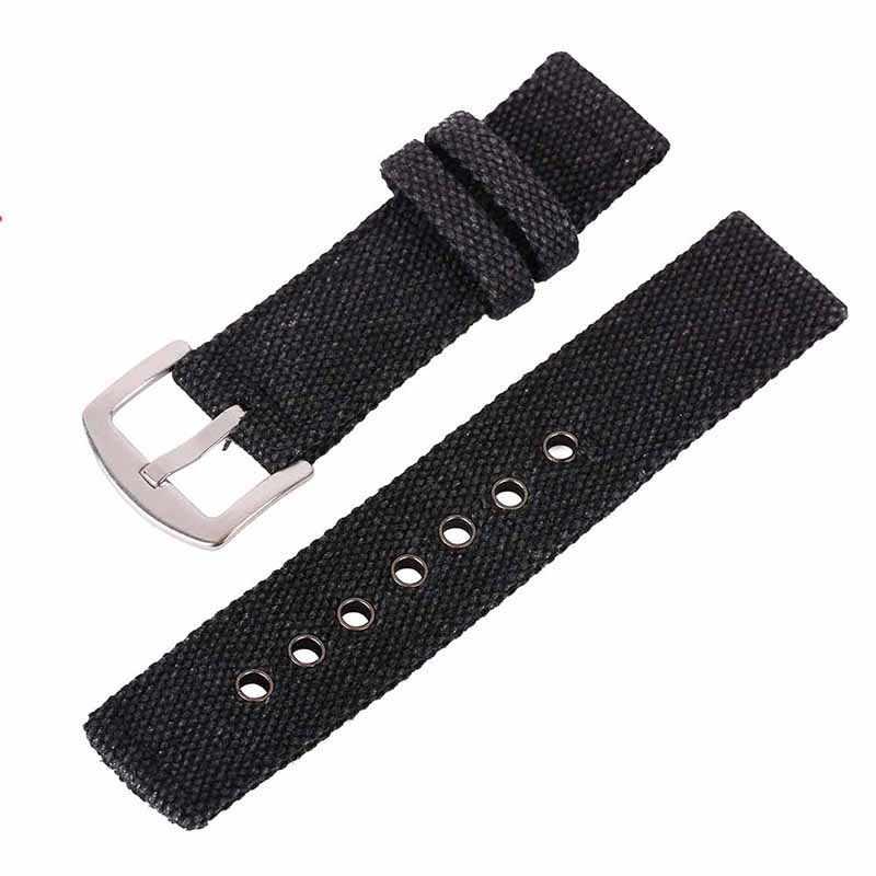 * 18mm 20mm 22mm 24mm płótno pasek do zegarka pasek mody mężczyzna kobiet od zegarków Unisex zegarki sportowe akcesoria do paska