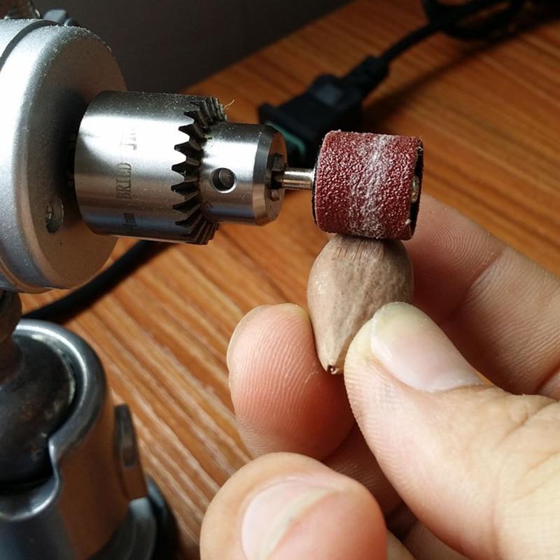 100 sztuk 6mm bęben szlifierski papier ścierny do drewna akcesoria - Narzędzia ścierne - Zdjęcie 5