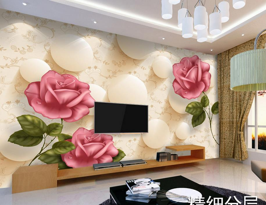 ФОТО customize luxury wallpaper Abstract red rose 3d wall murals wallpaper home decor living room wallpaper modern