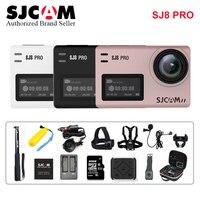 Оригинальный SJCAM SJ8 Профессиональный стабилизатор экшен камера Эра 4 К к водостойкий 8 * Цифровой зум Спорт экшен камера WiFi Удаленная видеока