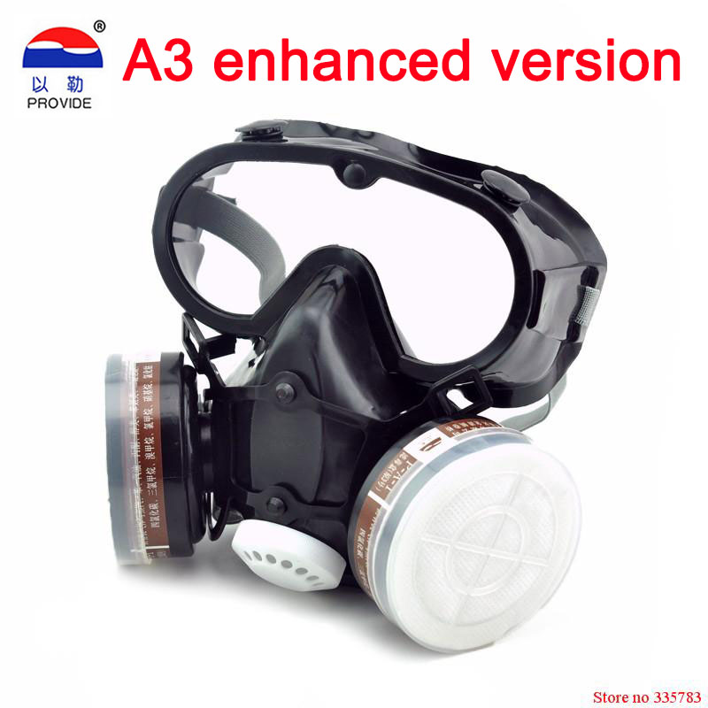 Respirator dust gas mask with glasses Labor insurance supplies Eyes nose and mouth conjoined Safety glasses protective maskRespirator dust gas mask with glasses Labor insurance supplies Eyes nose and mouth conjoined Safety glasses protective mask