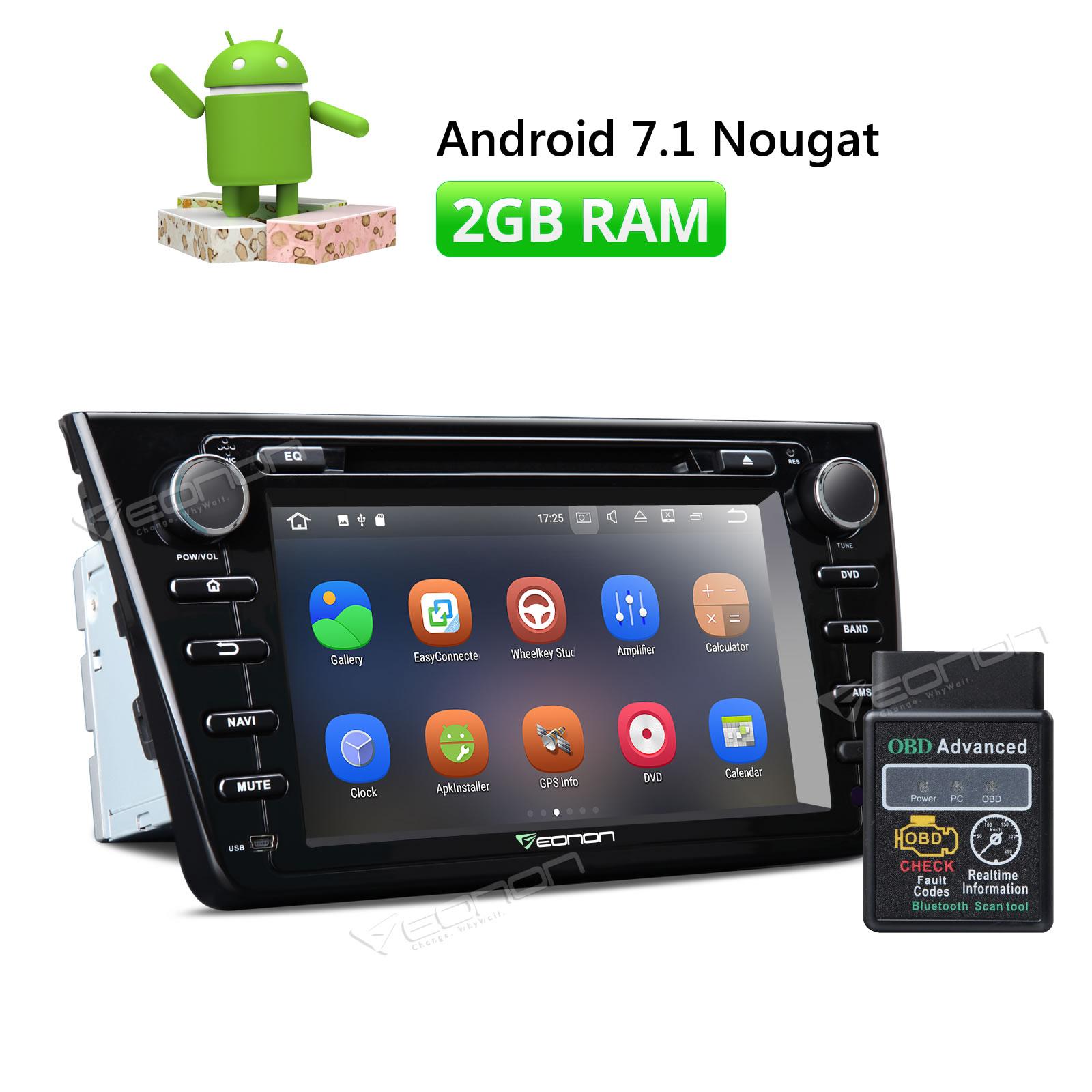 OBDII и Eonon 8 HD Android 7,1 Штатная стерео gps SAT Nav Системы радио для Mazda 6 2009 2010 2011 2012 WiFi DAB +